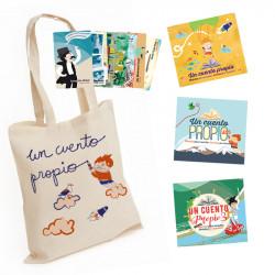 Pack Un cuento propio con postales y bolsa